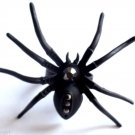 Large Black Metal Crystal Spider Cocktail Ring adjustable band
