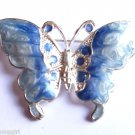 Butterfly Pin Brooch blue silver