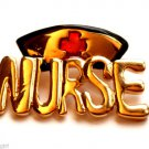 Gold Nurse Pin Brooch Hat