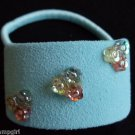 Blue Suade Ponytail Holder