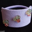 Purple Suade Ponytail Holder