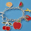Fruit Charm Bracelet Apple Bananna Strawberry Cherry