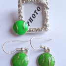 Tennis 2 in 1 Pin / Pendent and Earrings Set photo