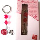 Grandmother Charm Keychain with Poem Russ Berries