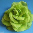 Large Green Flower hair clip ponytail pin 3 in 1