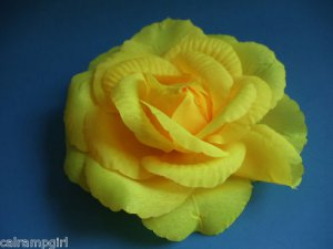 Large yellow Flower hair clip ponytail pin 3 in 1