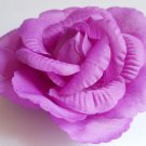 Large purple Flower hair clip ponytail pin 3 in 1