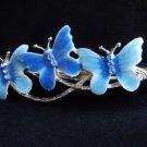 Rhinestone Hair Clip Blue Butterflies Claw Salon