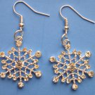 Silver Crystal Snowflake Earrings Winter Christmas