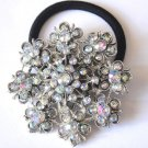 Ponytail Holder / Brooch Crystal Clear snowflake
