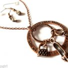 Love Dream Hope Trust Rings and Charms Necklace Bronze