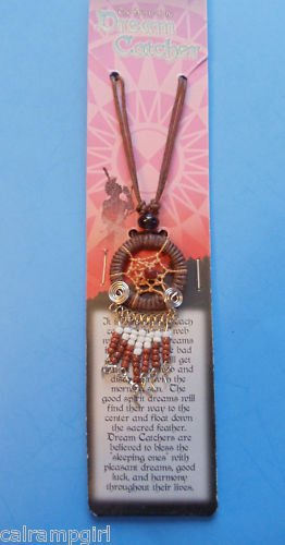Brown Dream Catcher Necklace with Story