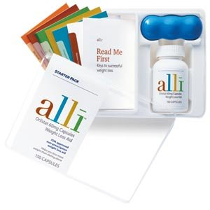 Alli Weight-Loss Aid, Orlistat 60mg Capsules 150 Count Starter Pack