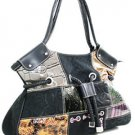 CM Reptiles Print Handbag with Woven and Rope Accents