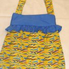 summer recycle sunny tote, reusable everyday bag, girls books bag, beach bag, diaper bag