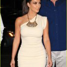 Celebrity One Shoulder Mini Dress as seen on Kim Kardashian Beige