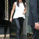 Celebrity Asymmetric White Top as seen on Kim Kardashian