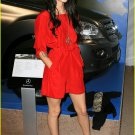 Silky Red Dress Mini Party Shirt Dress Megan Fox style
