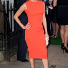 Celebrity style orange dress inspired, Longoria, Pencil Party Knee length Dress