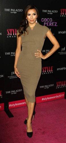 Celebrity style Beige Caramel dress inspired, Longoria, Pencil Party Knee length Dress