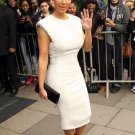 White beaded dress inspired by Kardashian style/Custom order for Jovana