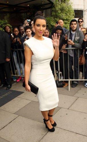 White beaded dress inspired by Kardashian style/Custom order for Jovana