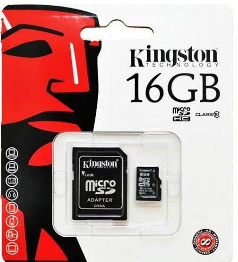 Kingston 16GB Class 10 Micro SD Card For Mobile ( RETAIL PACK )