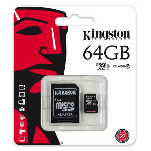 Kingston 64GB Class 10 Micro SD Card For Mobile ( RETAIL PACK )