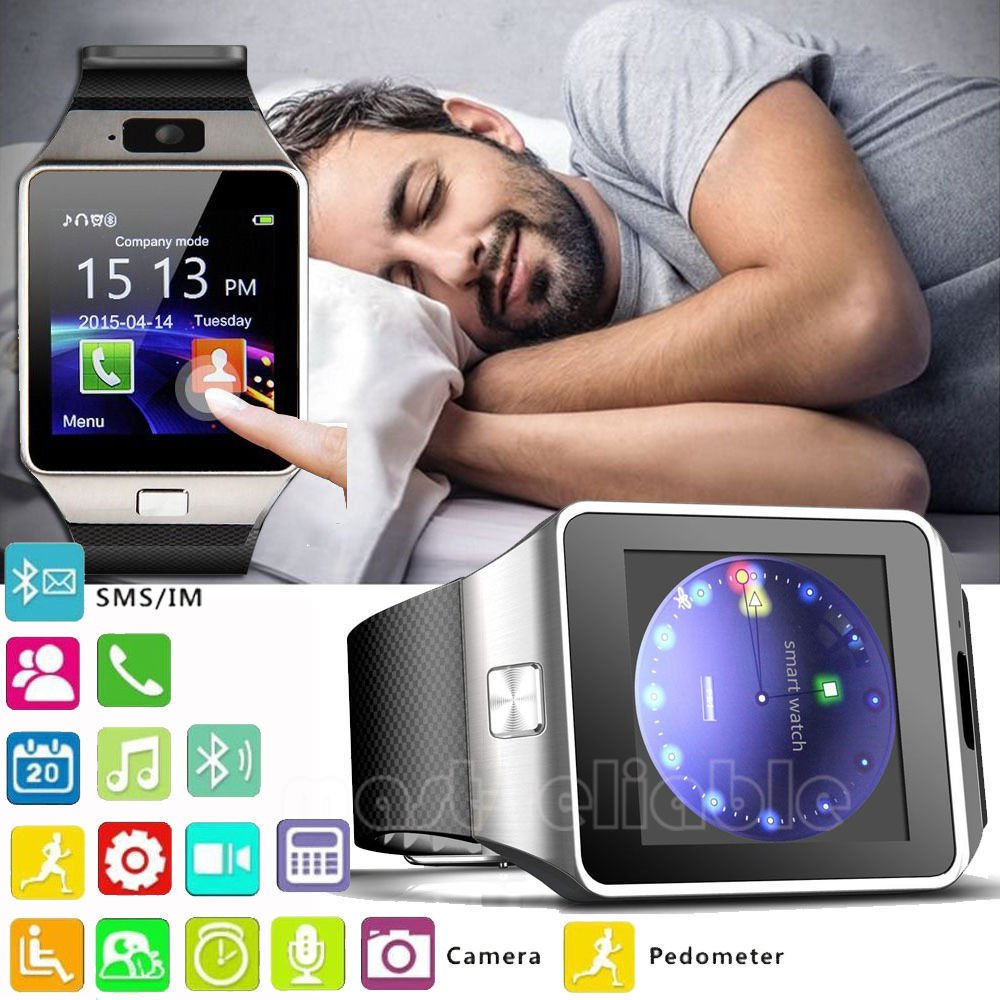 DZ09 Bluetooth Smart Watch Wrist For iPhone Samsung Android Phone Camera Sim slot