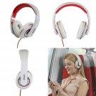 Akai A58019W DJ Style Over Ear Heaphones in White - Brand NEW