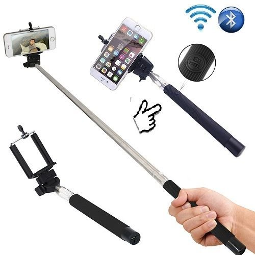 Monopod Selfie Stick Telescopic Built-in Bluetooth Wireless Remote Phone Holder
