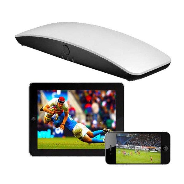 New Noovo TVMan Home WiFi Live TV Hotspot & Multimedia Stream Tablet Smartphones