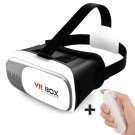 VR Box Virtual Reality VR Glasses 3D Headset with Remote for Mobile Phones