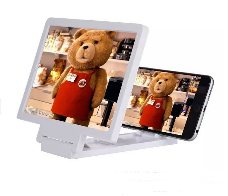 Gadget 3D Screen Magnifier Mobile Phone Video Enlarge Stand Expander Stand SA