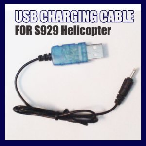 WLToys S929 Remote Control RC Helicopter USB Charging Cable