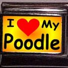 I Love (Heart My Poodle, Custom Italian Charm 9mm