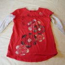 Girls Clothes 5 Shirt Sonoma Top Red Flowers GUC