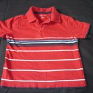 Boys Clothes Sonoma 3T Collar Short Sleeve Shirt Red White Blue Stripe