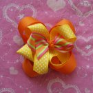 Orange & Stripped hairbow