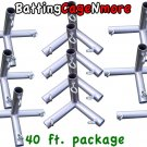 Batting Cage Baseball Softball FRAME KIT 40 Ft. 1 3/8 IN. FITTINGS NEW