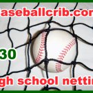 Batting cage adult netting 10x10x45 ft. High school baseball softball sport net