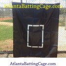 Batting cage net saver with strike zone size 5x5 ft.