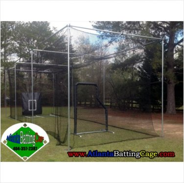 Batting cage package kit 12 x 36 netting safety screen net protector batters box