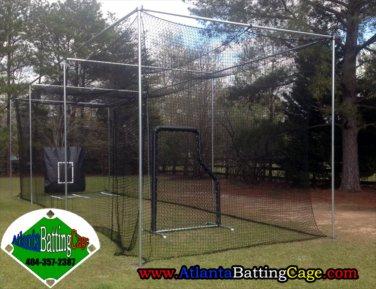 70 ft. Batting cage pro netting #42 nylon netting 12 ft. Tall 12 ft. Wide