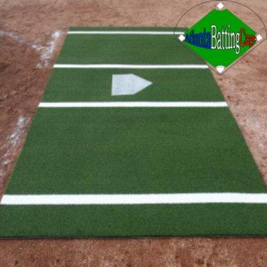 6' x 12' Synthetic Turf Baseball / Softball Hitting Mat Batters Box