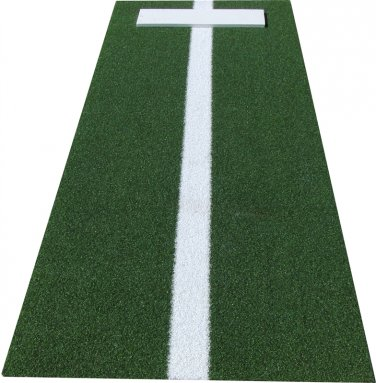 3' x 10' Green Softball Pitchers Mound With Power Strip