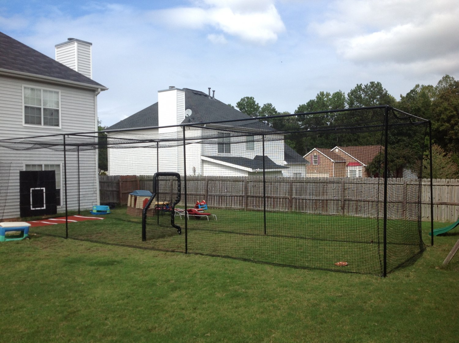 45 ft. batting cage kit and netting do it yourself and save
