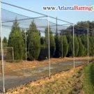 Batting Cage Netting 12x14x25 ft. WITH DOOR/BAFFLE  # 21 Nylon Net. NEW