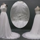 Custom made halter chiffon peal beaded beachside wedding dress formal bridal gown for summer