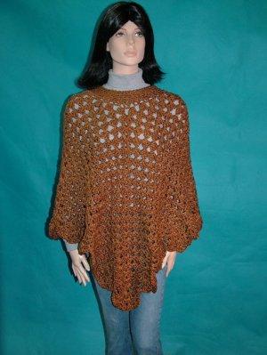 KNC Coming Home Hand Crochet Poncho Ranch Sz S-M